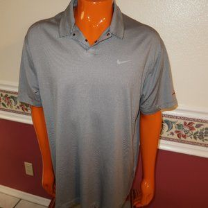 MENS NIKE TIGER WOODS DRI FIT POLO SHIRT XL EUC